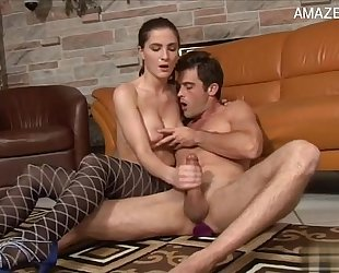 Hot amateur wife accidental creampie