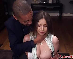 Tied up servitude sub spanked previous to anal fucking