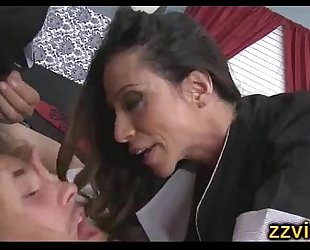 Ariella ferrera cfnm three-some