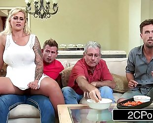 Busty milf ryan conner cheats with her own stepson in the kitchen
