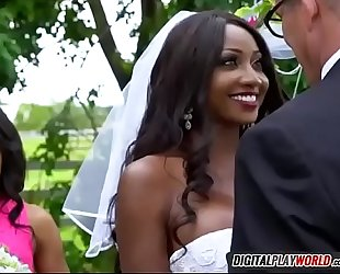 Black BBC slut diamond jackson engulfing spouse tony d on wedding day
