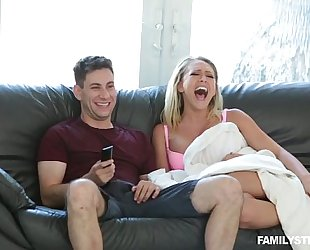 Horny stepmom kagney linn karter bonks his stepson whilst daddy is sleeping