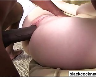 Blonde doxy ruined by black males dong