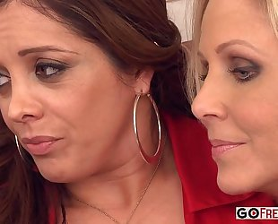 Francesca le julia ann lexi lamour acquires comforted by her milf ally