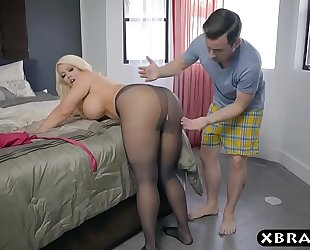 Bbw stepmom is slutty and wishes a juvenile pecker in her large a-hole