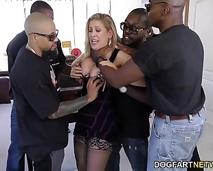 Cherie deville acquires team-fucked by large dark jocks