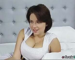 Busty russian marina visconti shows off her milk cans