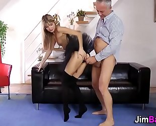 Teen and milf exchange cum