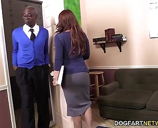 Janet mason receives screwed by 2 excited dark dudes