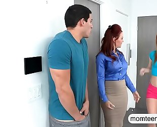 Janet mason and alex tanner excited three-some