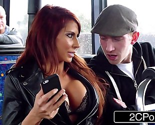 Steamy ffm three-some on a voyage bus in london - jasmine jae, madison ivy
