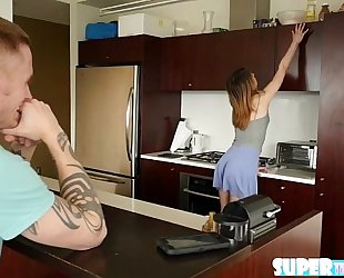 Bubble ass and redhead kristen scott receives her pussy drilled hard