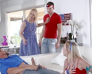 Zoe parker, sarah vandella in fuck pledge of allegiance