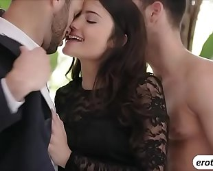 Beautiful chick adria rae is treated with a 3some sex