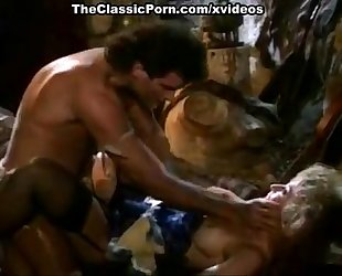 Nina hartley, jon dough in 80's porn movie of a barbarian fucking a blondie