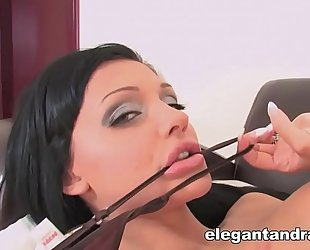 Naughty aletta ocean plays with herself
