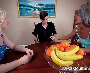 Footjob with step sister fifi foxx and leilani lei