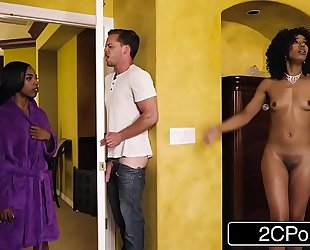 Horny dark mommy steals her daughter's boyfriend - misty stone, sarah banks