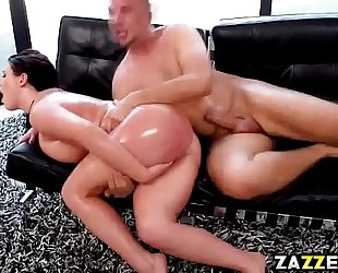 Angela white got her constricted anal raided by keiran lee