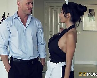 Huge hooters maid ava addams pounded with a giant penis